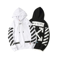 Europe And America Popular Brand off White Twill Printed Men And Women Hooded Men And Women Couples Hoodie