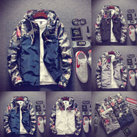 Men Casual Style Jackets Patchwork Pattern Type Zipper Closure Conventional Cuff Type With Nood Collar None Decoration