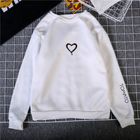 Heart Hoodies Sweatshirts 2019 Women Casual Kawaii Harajuku New Sweat Punk for Girls Clothing European Top Korean sudadera mujer