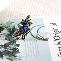 Crystal Butterfly Shape Wedding Ring Party Jewelry Ring Elegant Fashion Classic