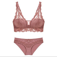 CINOON Fashion Sexy Bra set Women's push up Lace Underwear Panties Thin breathable bra set Jacquard Sexy Underwear Free Shipping