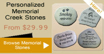 Personalized Memorial Creek Stones
