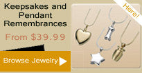 Memorial Jewelry, Keepsakes, and Pendants
