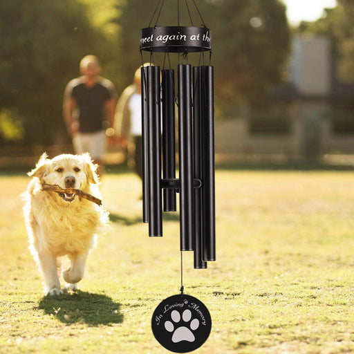 Dog Memorial Wind Chimes, 30'' Dog Paw Print