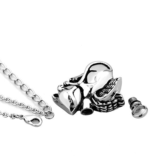 Cat Animal Urn Necklace for Ashes Keepsake Memorial Cremation Pendant