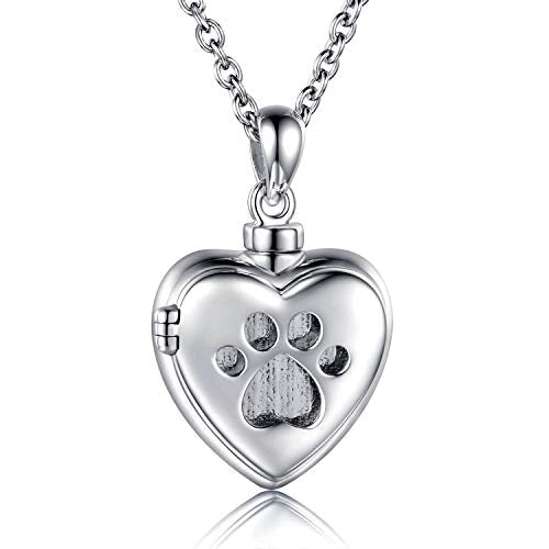 925 Sterling Silver Memorial Ash Pendant Urn Necklace