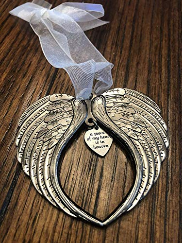 Christmas Ornaments Angel Wings - A Piece of My Heart is in Heaven Ornament