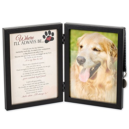 Pet Memorial Dog Photo Frame - Where I'll Always Be