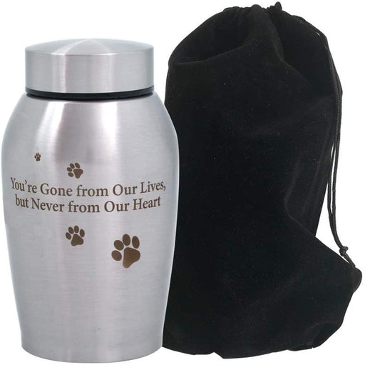 Pawprints Metallic Pet Paw Urn