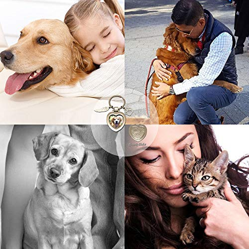 Pet Memorial Gifts Personalized Picture Frame - Pet loss Keychain