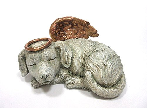 Pet Memorial Angel Dog Sleeping Cremation Urn - 30 Cubic Inch