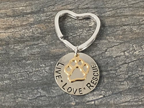 Pet Rescue Jewelry, Live Love Rescue Keychain