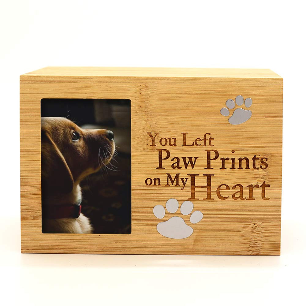 Photo Frame Funeral Cremation Urns Burly Wood Keepsake Memorial Urns