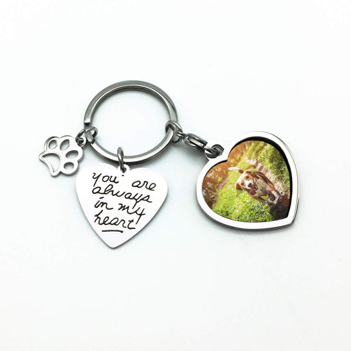 Pet Memorial Photo Frame Keychain - You are Always in My Heart