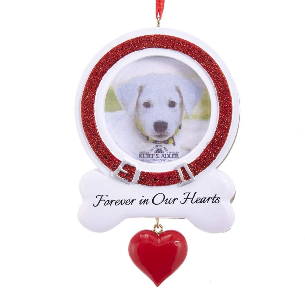 """Forever in Our Hearts"" Dog Picture Frame Ornament"