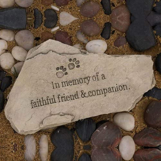 Commemorative Indoor/Outdoor Memorial Garden Stone - (Tiny Paws)