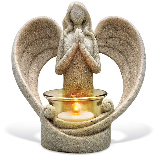 Tealight Candle Holder with Flickering Led Candle Sympathy Gift