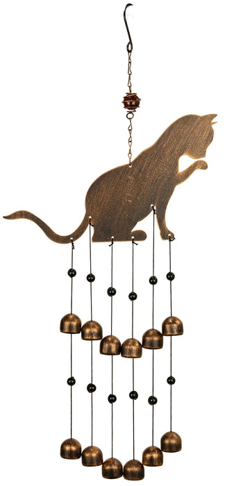 Fancy Feline Cat Outdoor Garden Decor Wind Chime