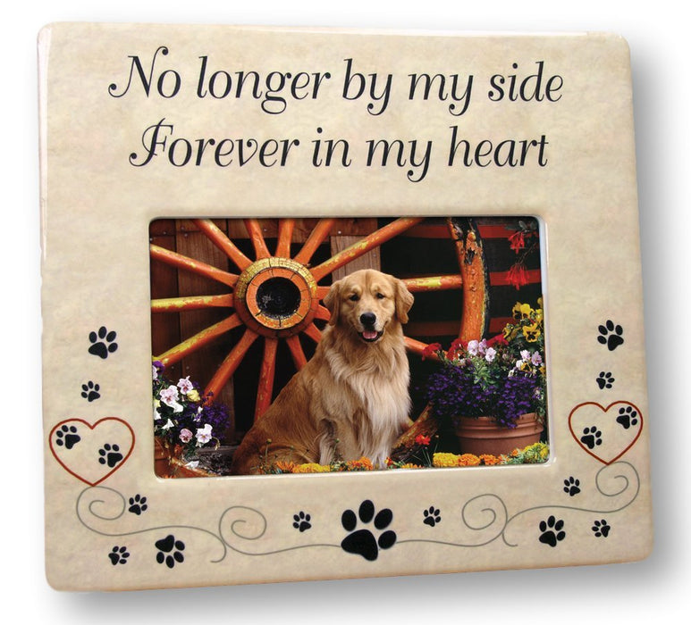 Pet Memorial Ceramic Picture Frame - Forever in My Heart