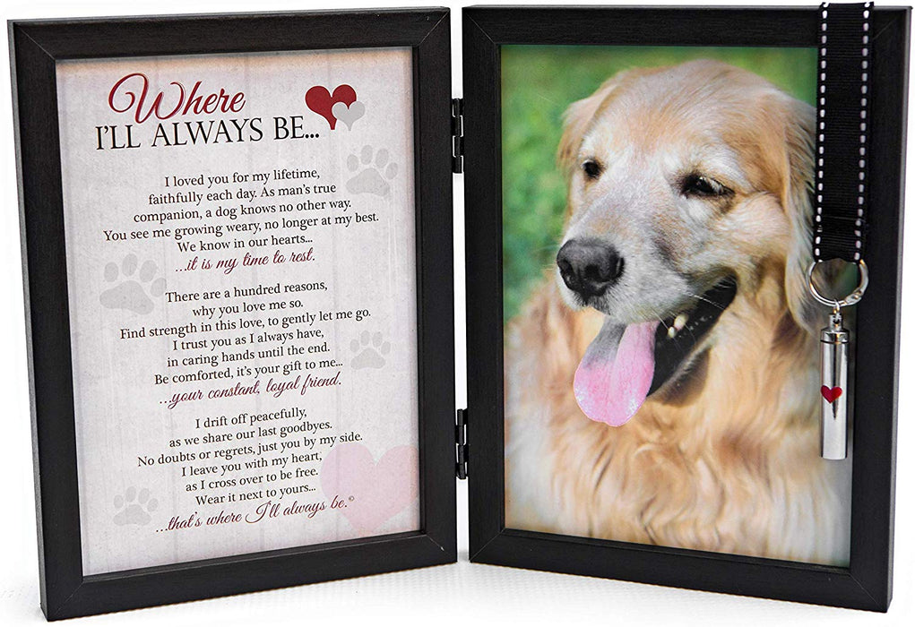 Pawprints Pet Memorial Frame with Pawprints Left by You Poem