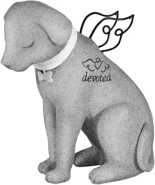 Bereavement Faithful Angel Memorial Dog Figurine Statue