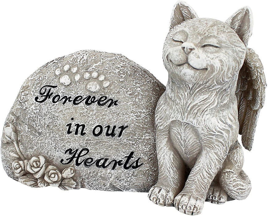 Cat Angel Pet Memorial Grave Marker Tribute Statue