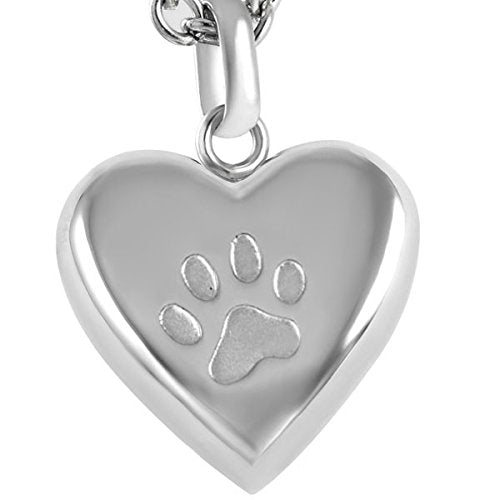 Clear Paw Keepsake Urn Pendant
