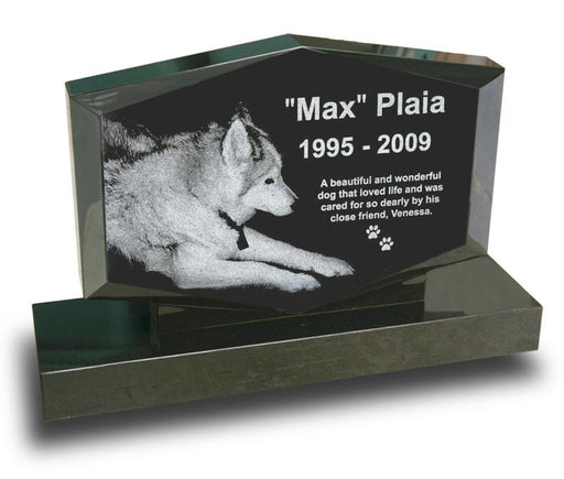 Large Diamond-Shaped Pet Monument - Laser Engraved