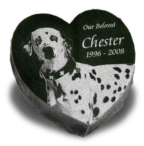 Heart-Shaped Pet Grave Marker - Medium (Custom Laser Engraved)