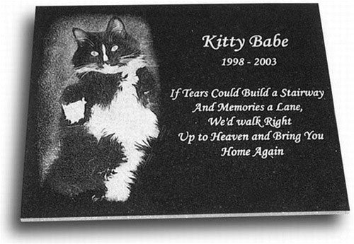 Pet Memorial Plaque - 12 x 8