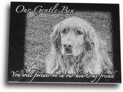 "Pet Memorial Plaque - 8"" x 6"" (Custom Laser Engraved)"