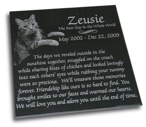 "Pet Memorial Plaque - 12"" x 12"" (Custom Laser Engraved)"