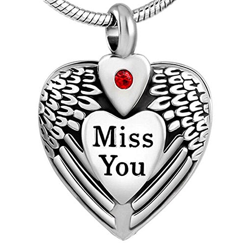 Miss You Keepsake Urn Pendant