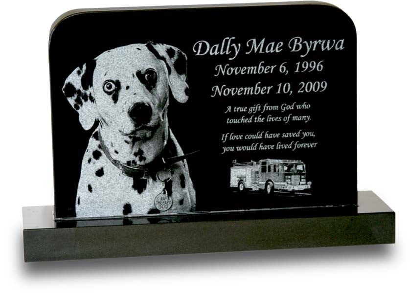 Large Rounded Pet Monument - Laser Engraved 1