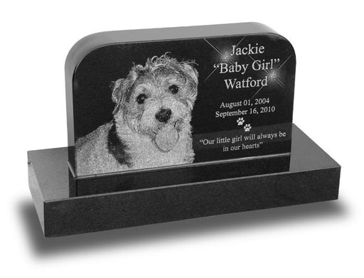 Small Rounded Pet Monument - Laser Engraved