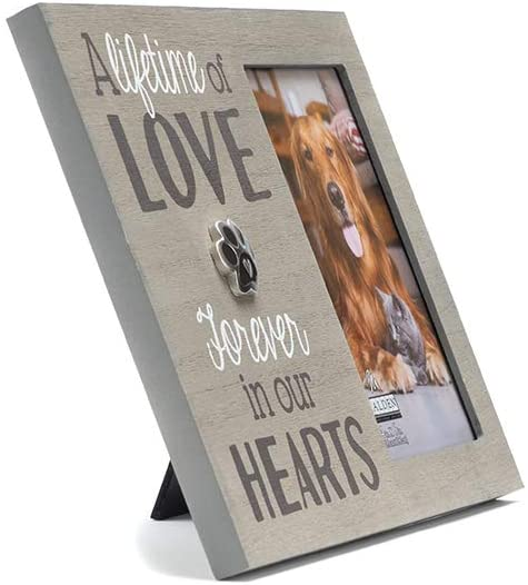 Pet Memorial Picture Frame - 5x7, Brown