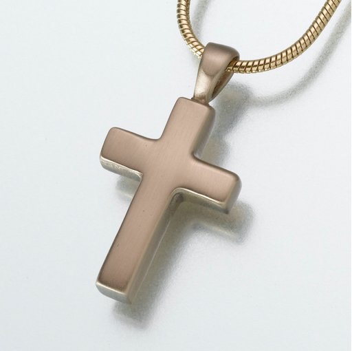 Brass Cross Pendant Keepsake Urn