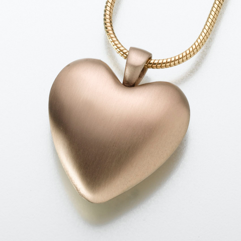 Bronze Heart Keepsake Urn Pendant