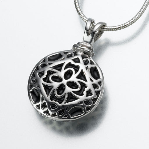 Filigree Round Pendant Keepsake Urn