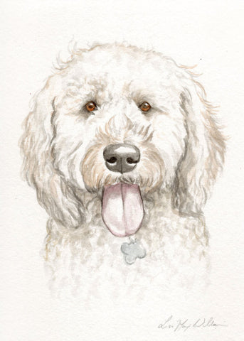 "5"" x 7"" Watercolor Portrait Painting by Lisa"