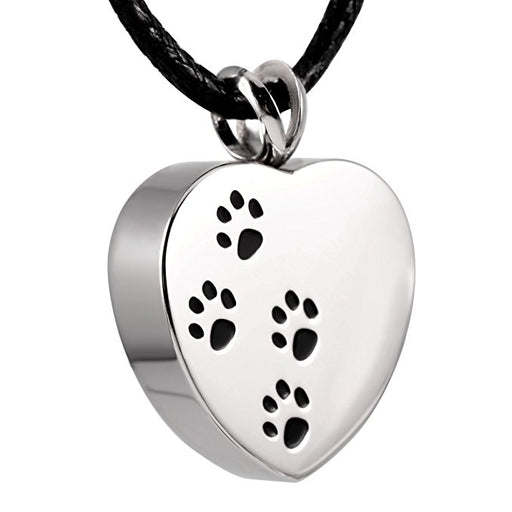 Paw & Heart Pet Memorial Urn Pendant