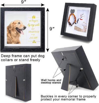 Pet Memorial Picture Frame - Pet Collar Frame Remembrance