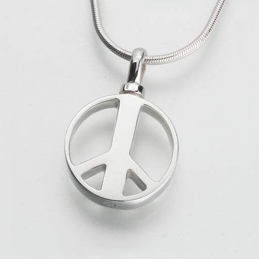 Peace Sign Pendant Keepsake Urn