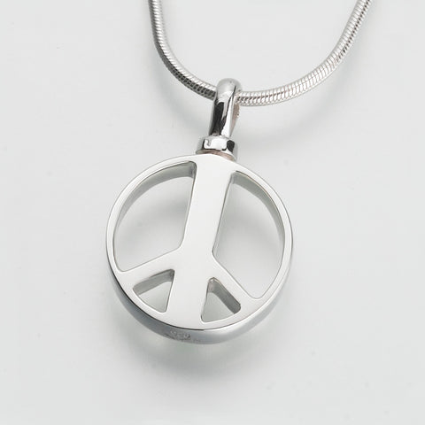 Peace Sign Keepsake Urn Pendant