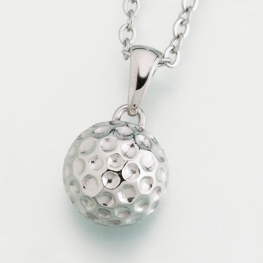 Stainless Steel Golf ball Pendant w/chain