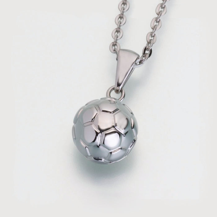 Stainless Steel Soccer Ball Pendant w/chain