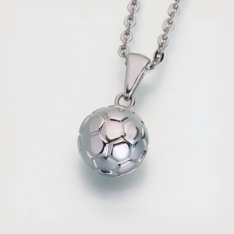 Stainless Steel Soccer Ball w/chain