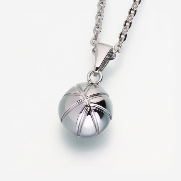 Stainless Steel Basketball Pendant w/chain