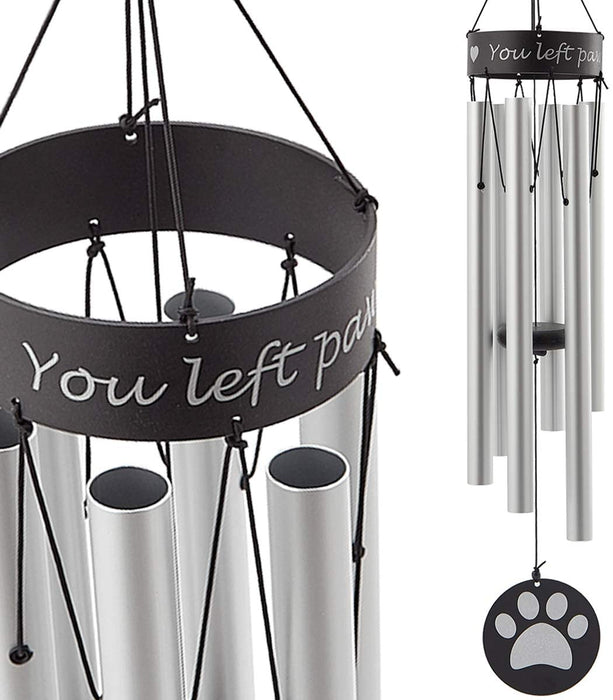 Pet Memorial Wind Chime - 30 inches Paw Print