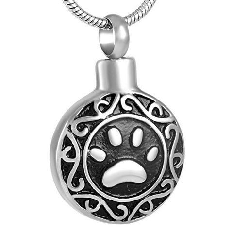 Paw Print Series Pet Memorial Urn Pendant